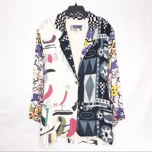Vintage Retro 80's 90's Color Black Blazer